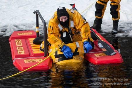 Privates Danielle Fiori & Joe Webster Participate in Ice Rescue Drill (2015)