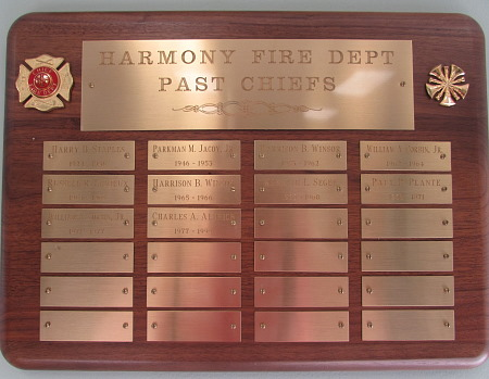 Past Chiefs Plaque