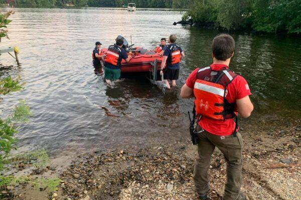 Harmony Fire Boat Drill