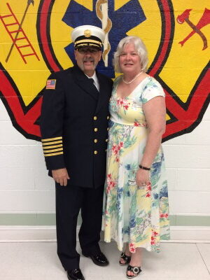 Chief & Mrs. Waterman at his Swearing In May 25, 2017